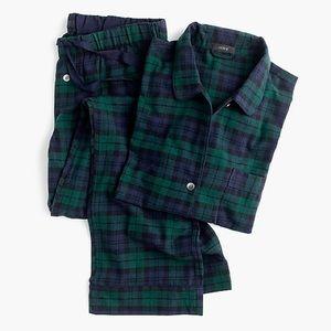 J. CREW Black Watch Tartan Flannel Pajama Set